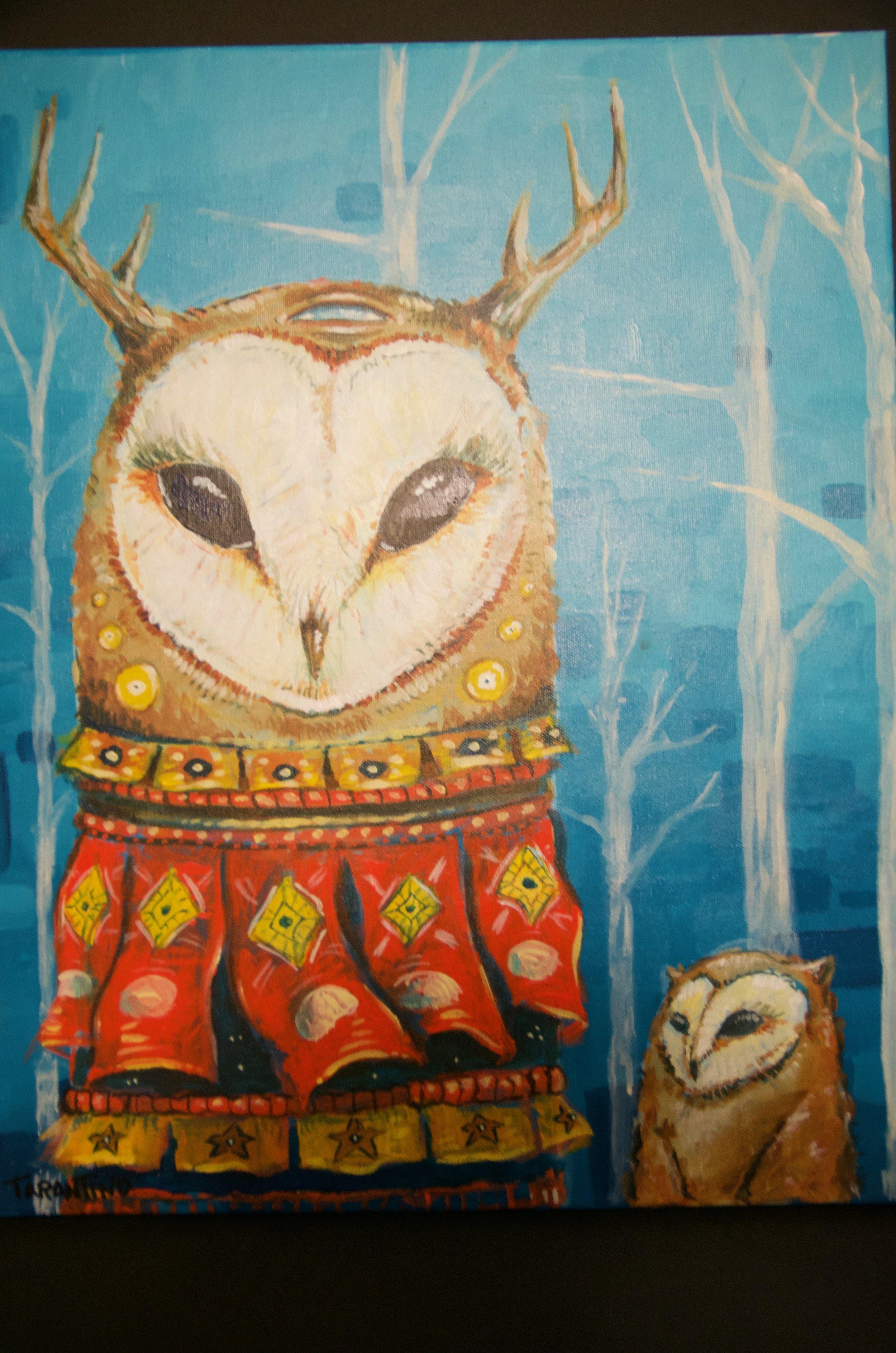 "SOPHIE TARANTINO   Acrylic on canvas | 16""x20"" (unframed)   Value:  $300 |  Minimum bid:  $75"
