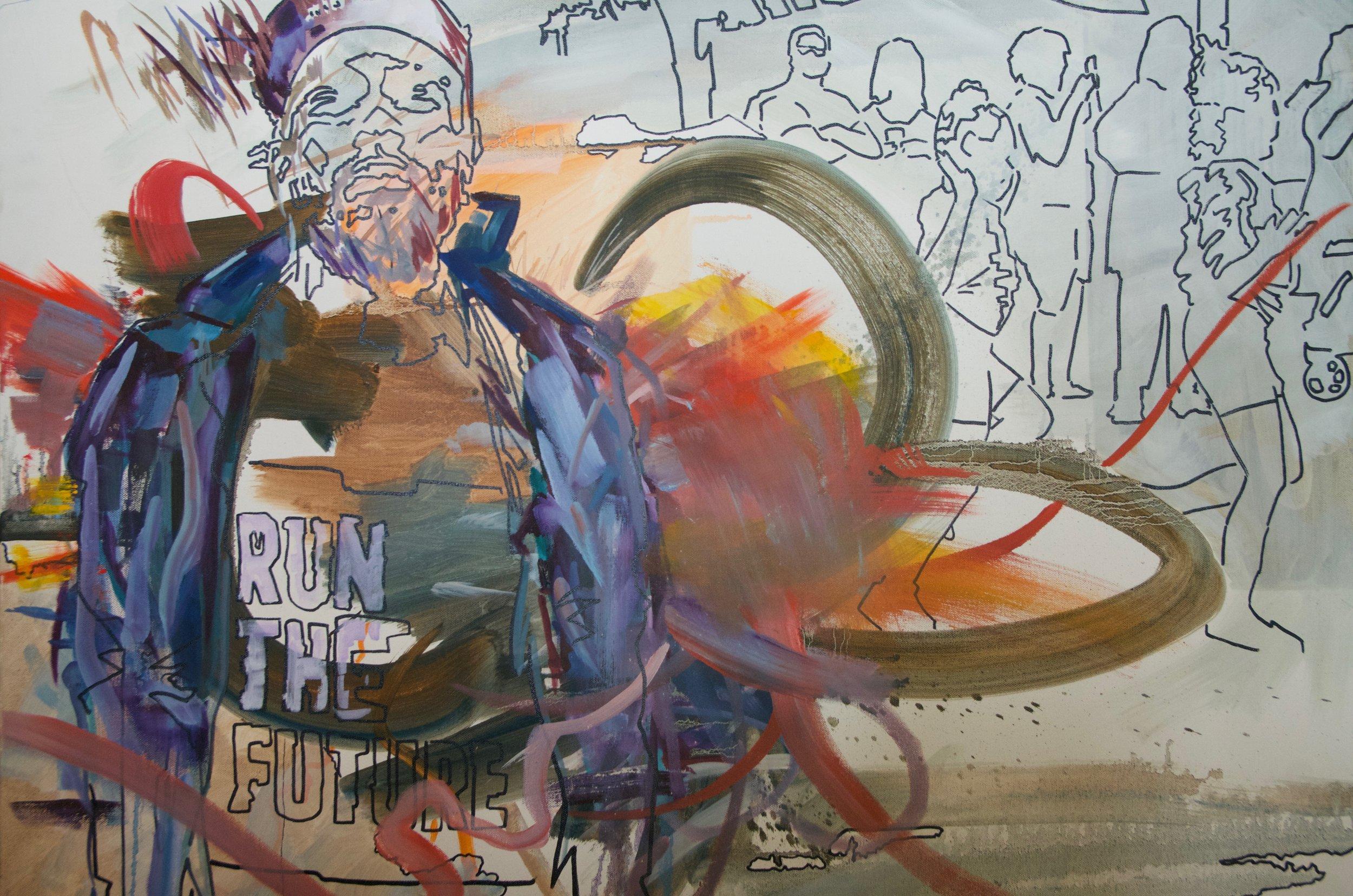 "NICK SCHILZ   Oil on canvas | 30""x40"" (unframed)   Value:  $400 |  Minimum bid:  $150"