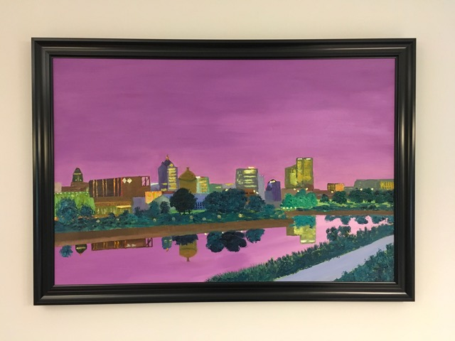 "JIM KRAHN   Oil on canvas | 27""x33"" (framed)   Value:  $750 |  Minimum bid:  $350"