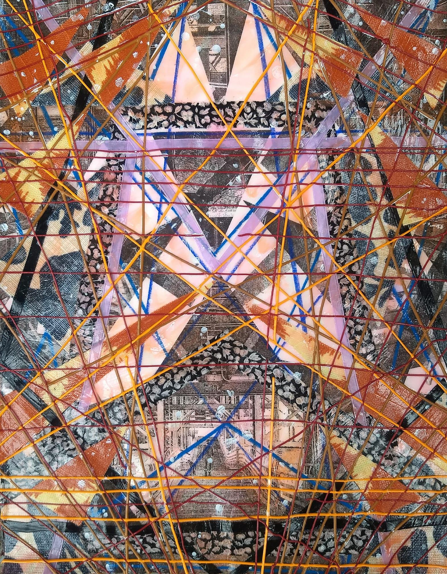 "JOHN KOWALCZYK   Mixed media and collage | 16""x20"" (framed)   Value:  $300  /Minimum bid:  $100"
