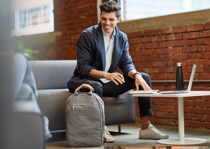 Thread's new backpack made entirely 100% recycled canvas!