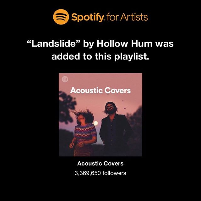 Thank you @spotify for this epic playlist add!