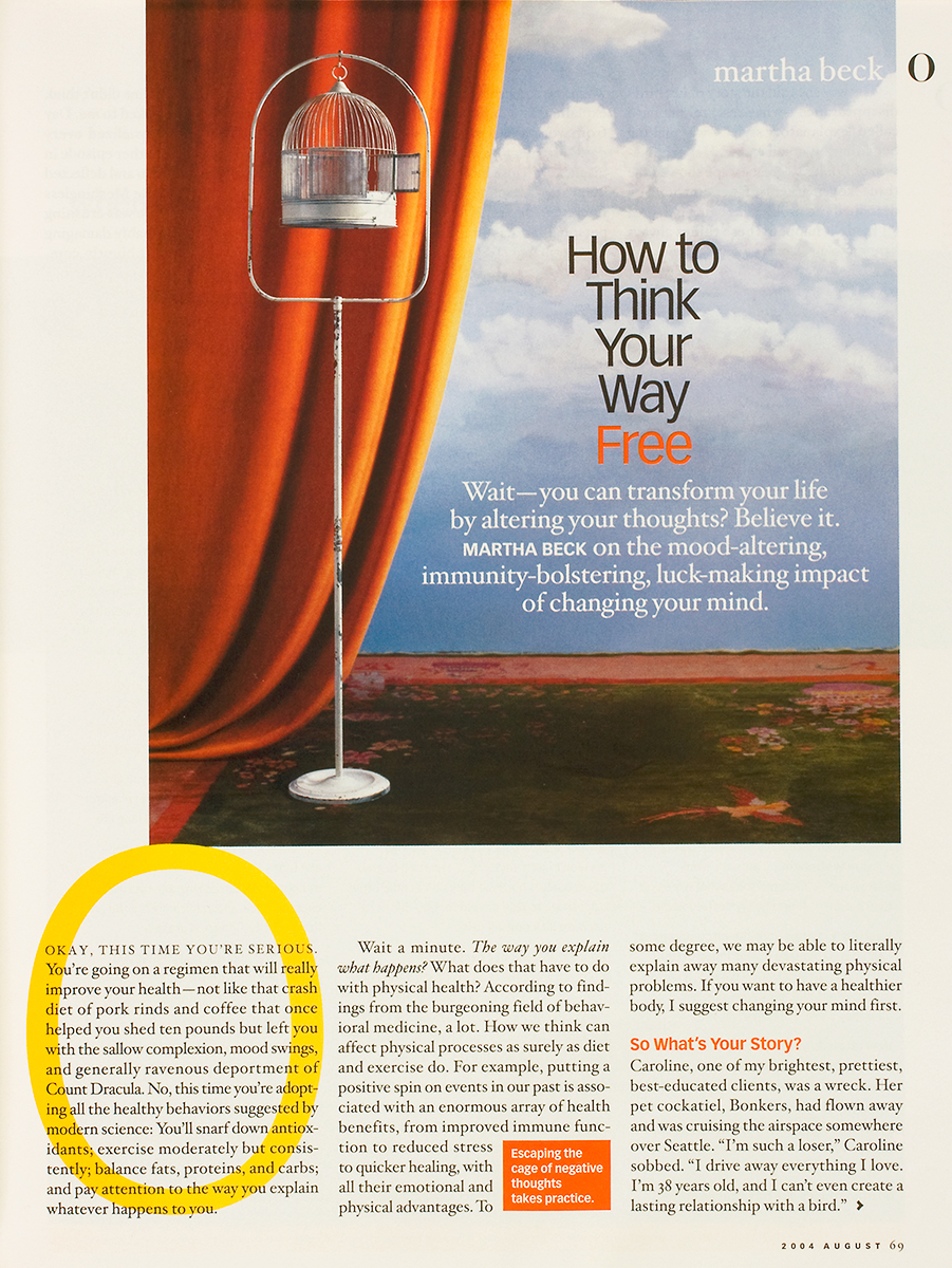 "Image licensed for Martha Beck article in ""O, the Oprah Magazine""."