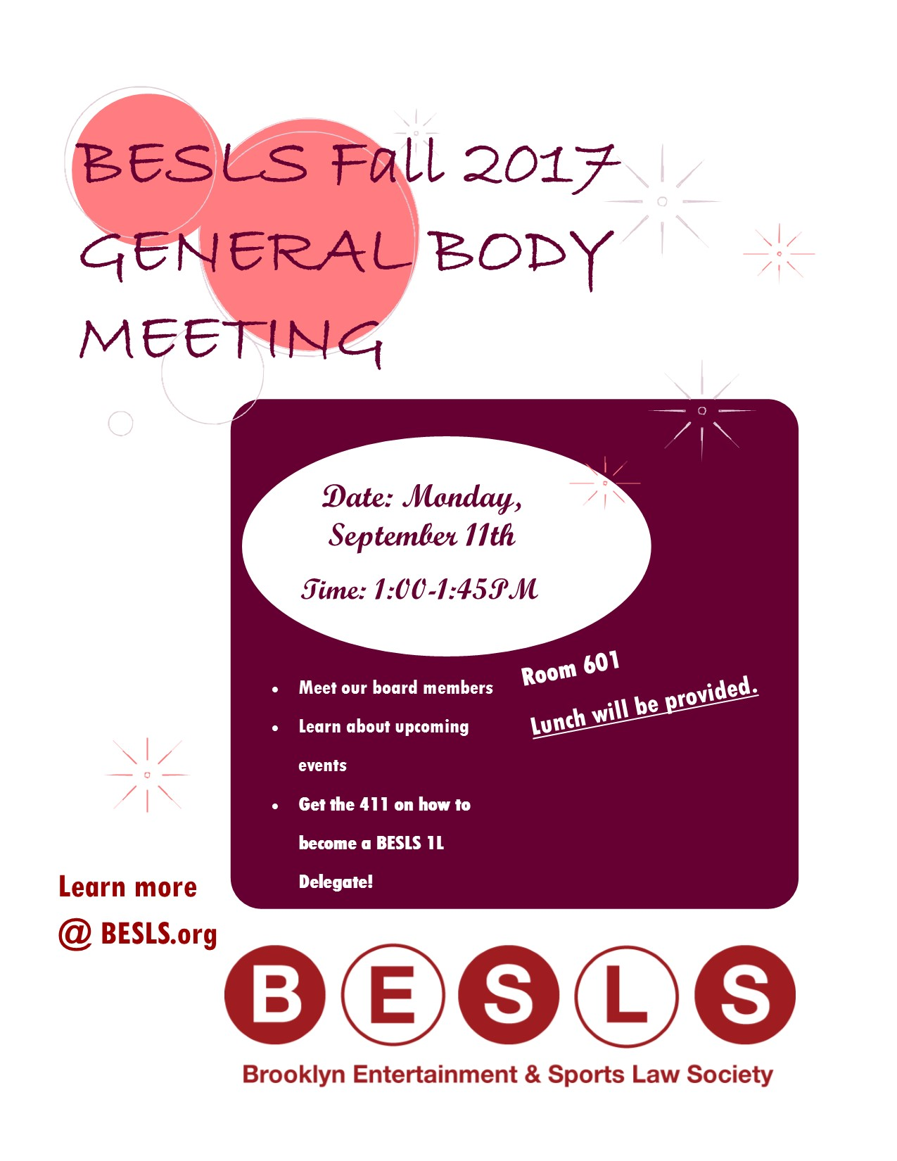 General Body Meeting Fall 2017