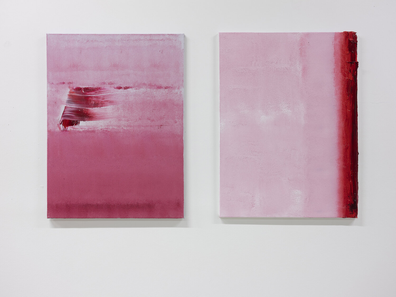 Liquid Series No.58/59. Watermelon Snow. Oil on Canvas. 81cmx60 cm