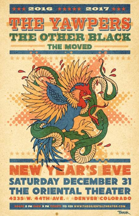 nye show at the oriental theater  the yawpers other black themoved