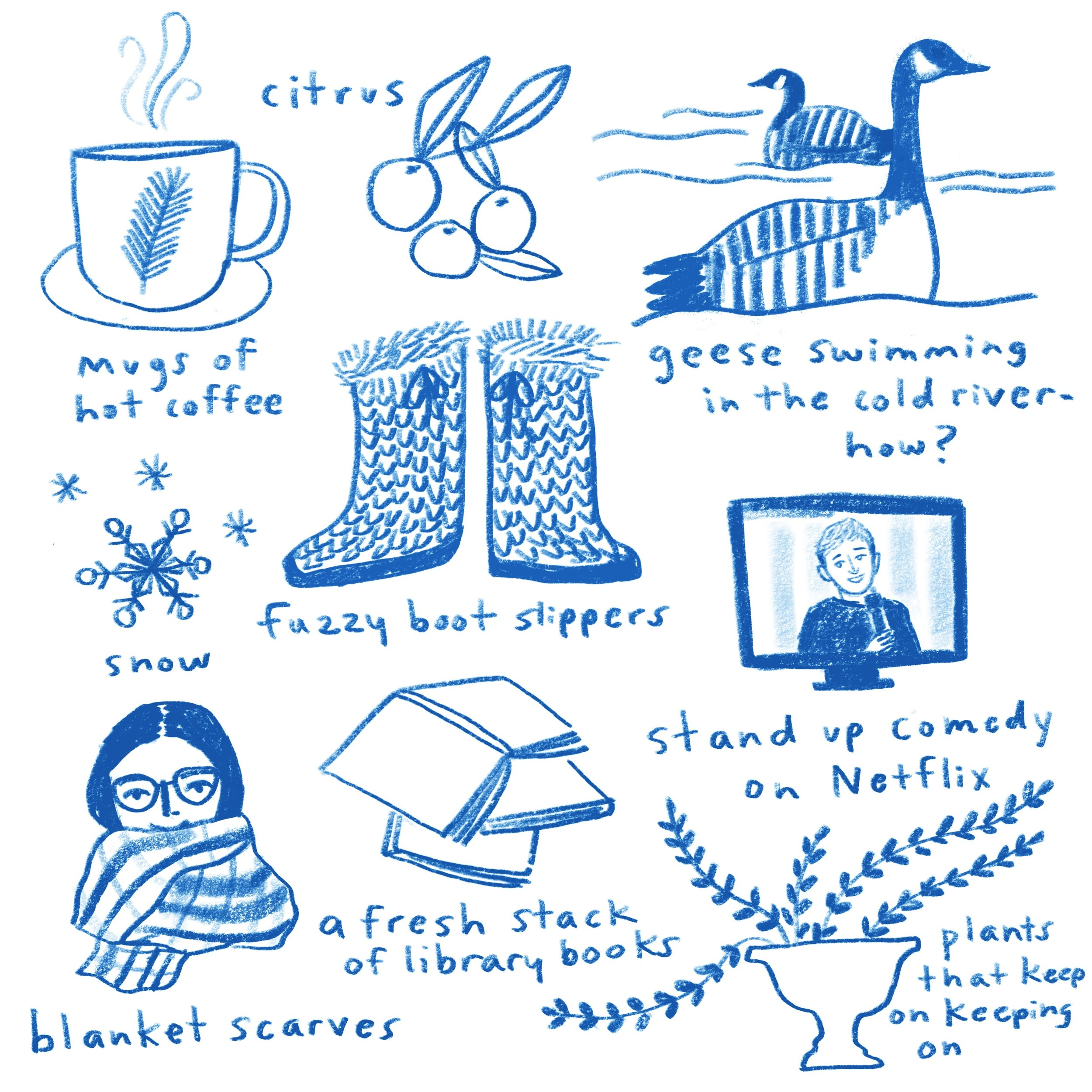 Good Things in Winter - illustration by Penelope Dullaghan