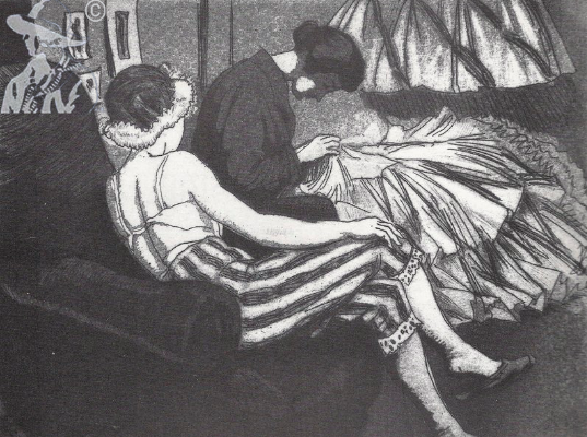 1923, Dame Laura Knight, Dressing Room.png