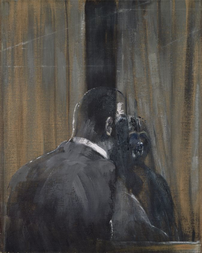 1949, Francis Bacon, Man with a monkey.jpg