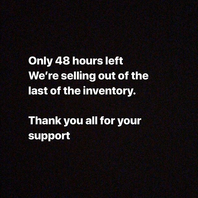 Thank you all for all the support!! Only 48 hours left. 70% off closing.