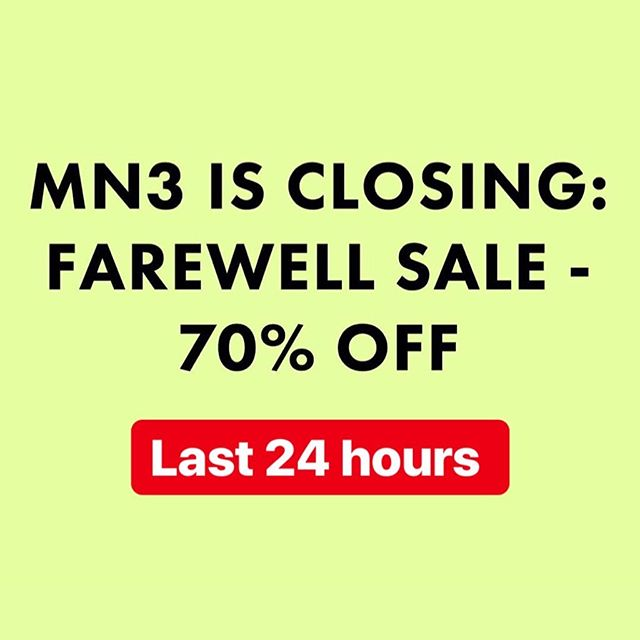 Last 24 hours to get a MN3 piece