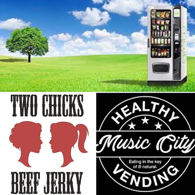 "Thank you!! @twochicksjerky for helping Nashville eat in the key of B natural.  Repost @twochicksjerky  We all know Nashville is known for its amazing music- but now you can also get amazing jerky there! Two Chicks Jerky is now proudly carried by Music City Healthy Vending (MCHV) who is ""committed to bringing Nashville the healthiest, most nutritious convenience foods available."" Giddy-up!"