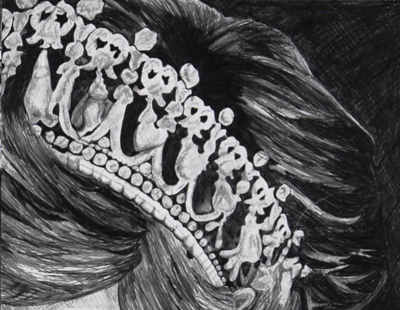 Pencil illustration of Princess Diana Crown.