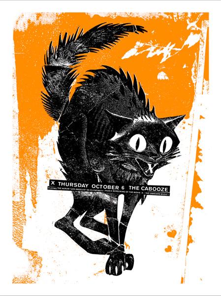 10.6.11 X at The Cabooze MN -Artist: Dale Flattum
