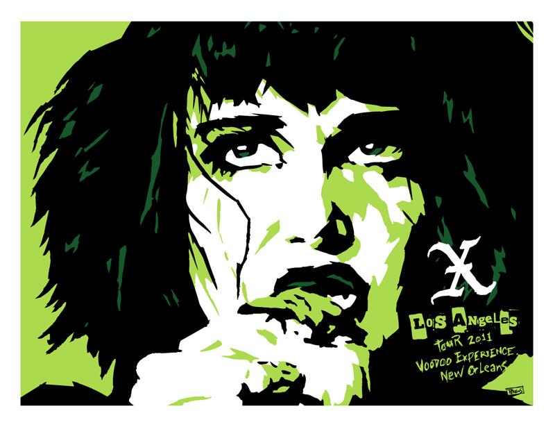 10.29.11 X at Voodoo Experience LA -Artist: Billy Perkins