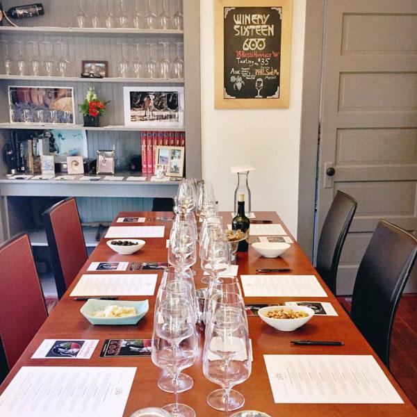 Winery Sixteen 600 Sonoma