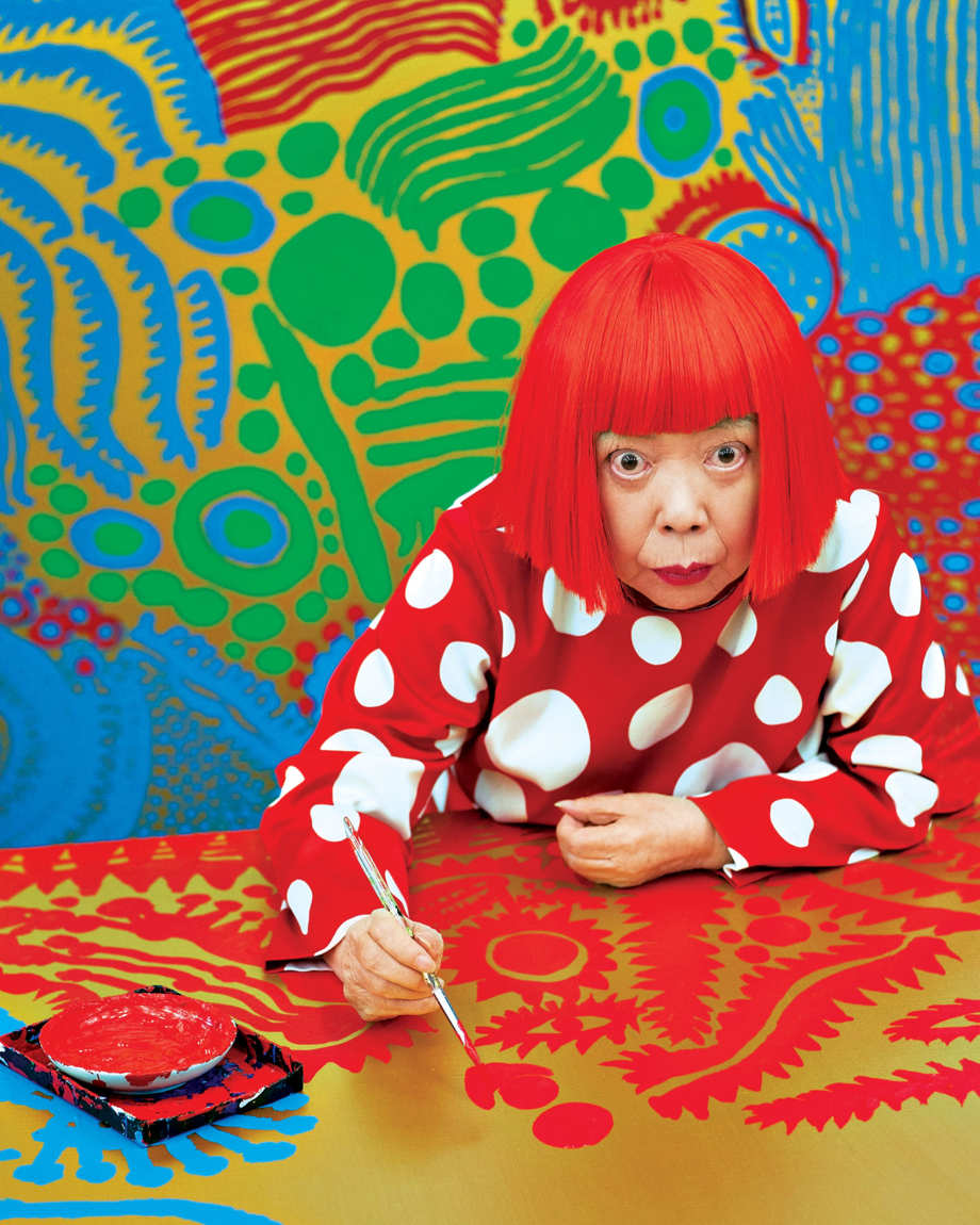 Even in a psychiatric hospital, Yayoi Kusama is prolific.Photo: Jeremy Sutton-Hibbert/Getty Images