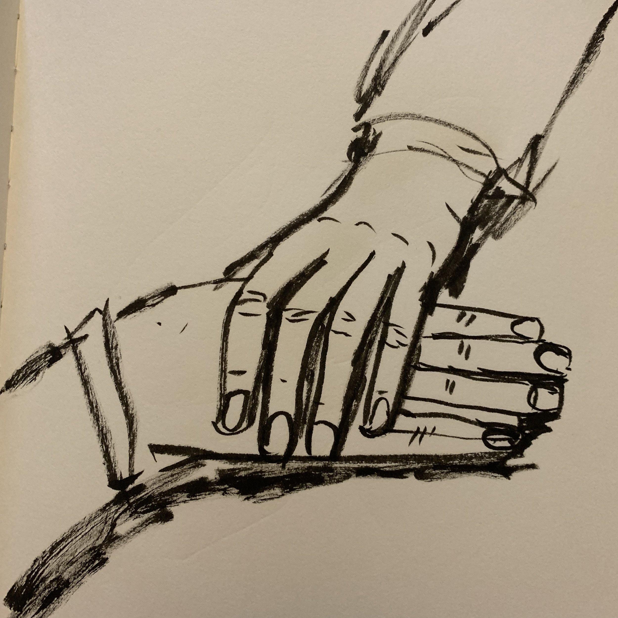 Matty's hands.