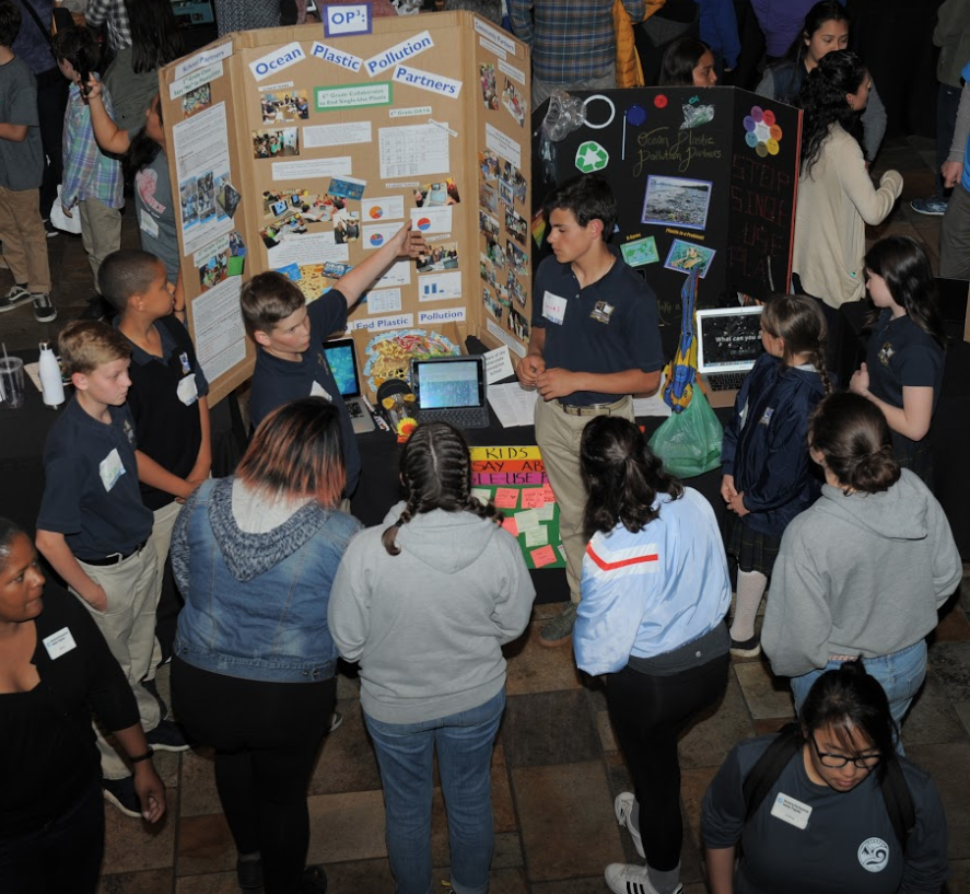 Ocean Plastics Pollution project presented at Monterey Bay Aquarium