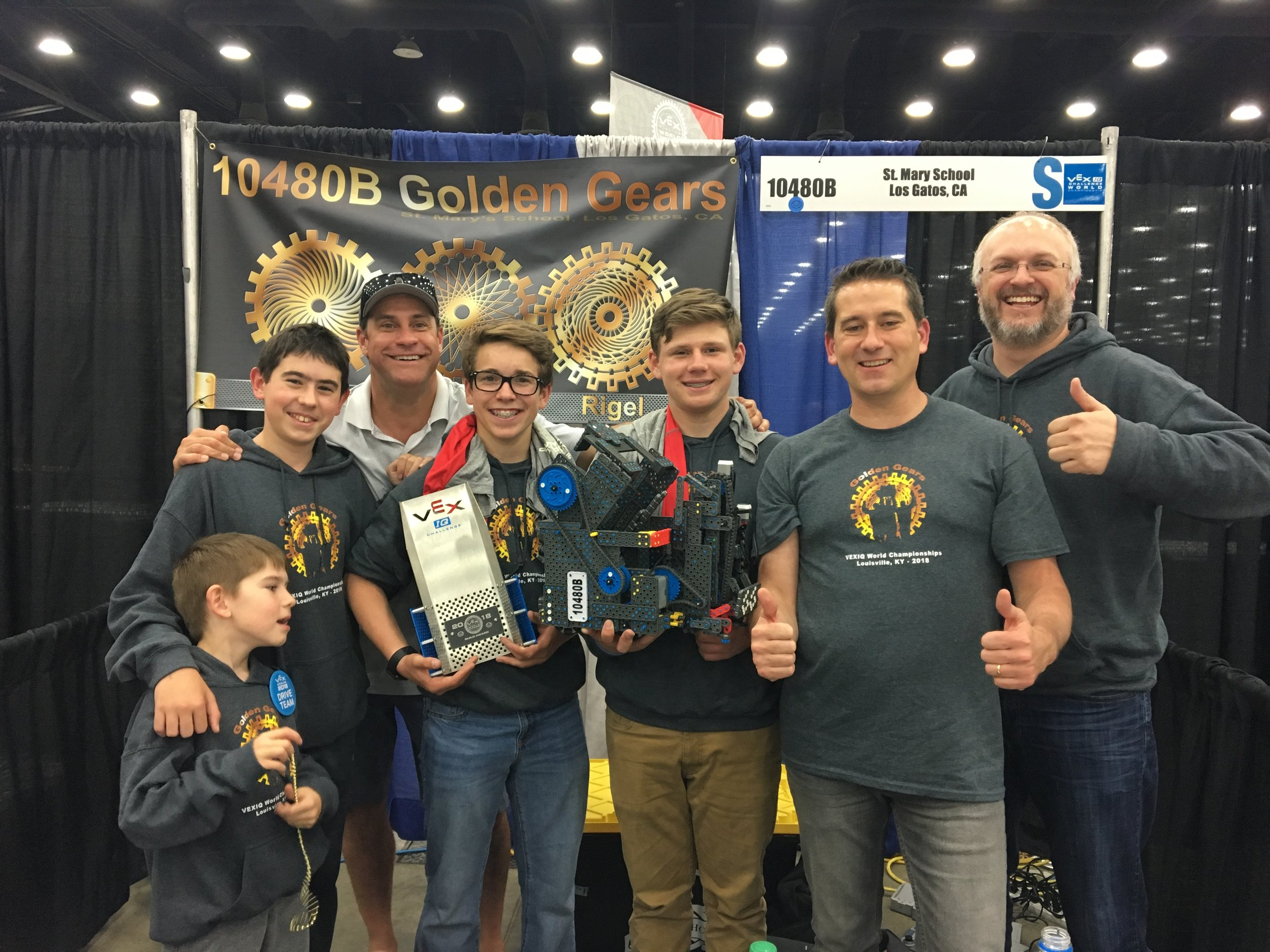 "Team ""Golden Gears"" won the Build Award at the VEX World Championships"