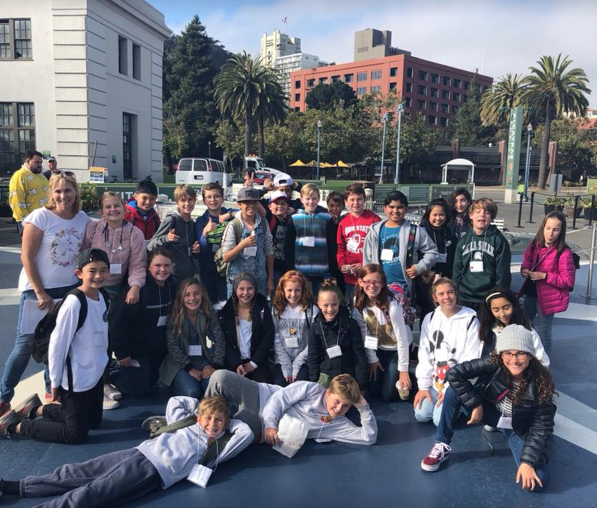 "6th grade en route to visit Alcatraz after reading ""Al Capone Does My Shirts"" by Gennifer Choldenko"