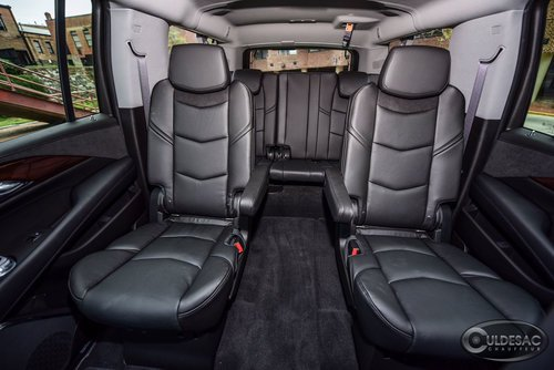 Black Cadillac escalade interior leather seats