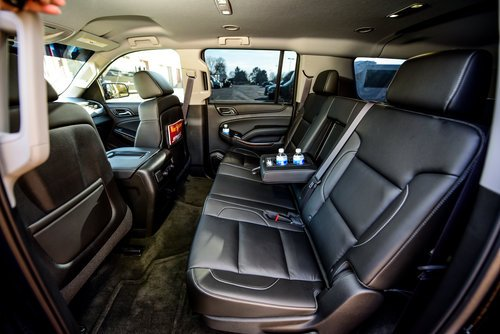 Black Chevrolet suburban interior leather seats