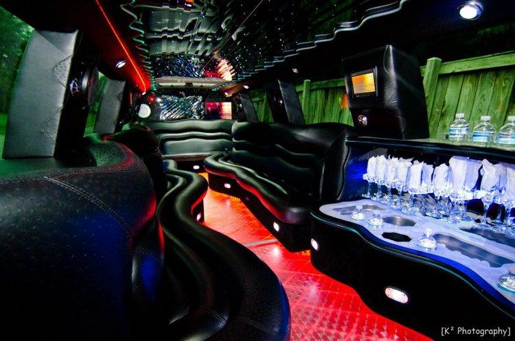 cadillac escalade limo interior party limousine