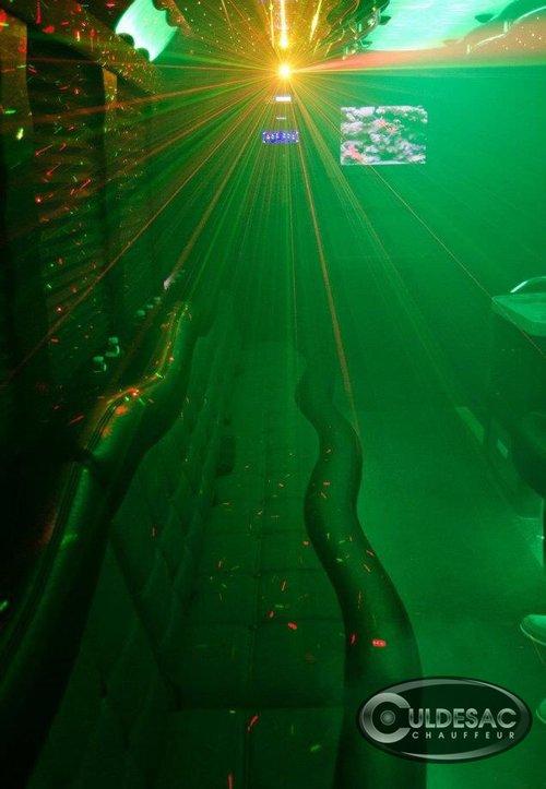 Party bus laser light show
