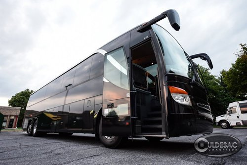Luxury black motor coach