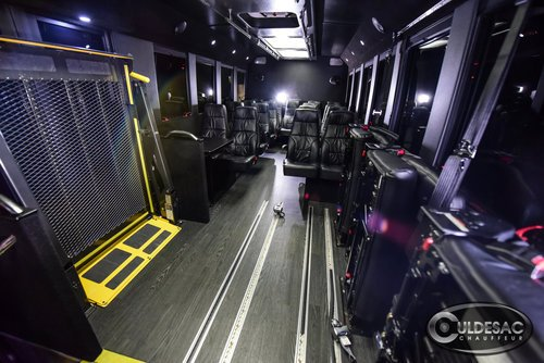 ADA handicap accessible shuttle bus transporation