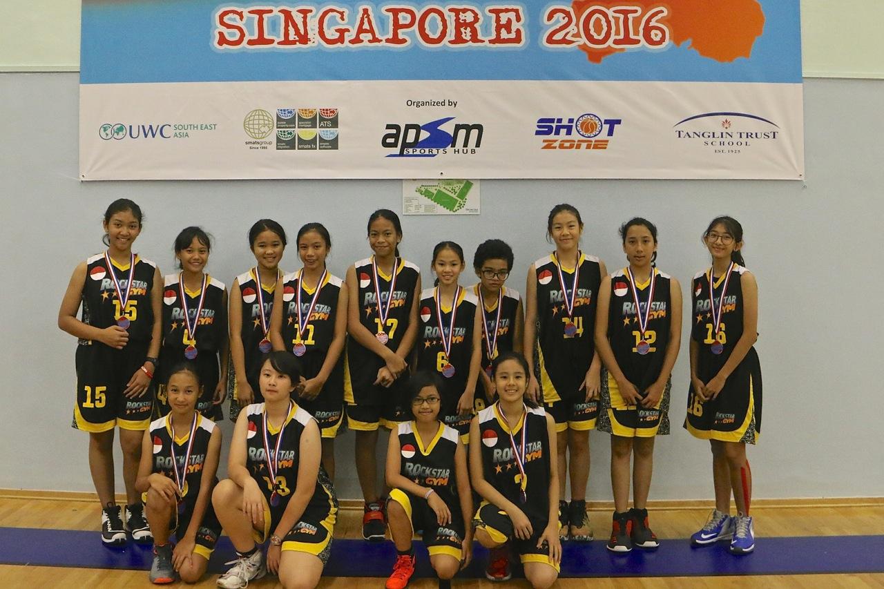U13 Girls 4th Place - Rock Star Gym BC