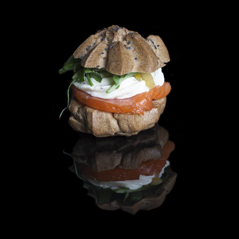 Copy of Copy of  Smoked Salmon Profiteroles with dill sour cream (GF)