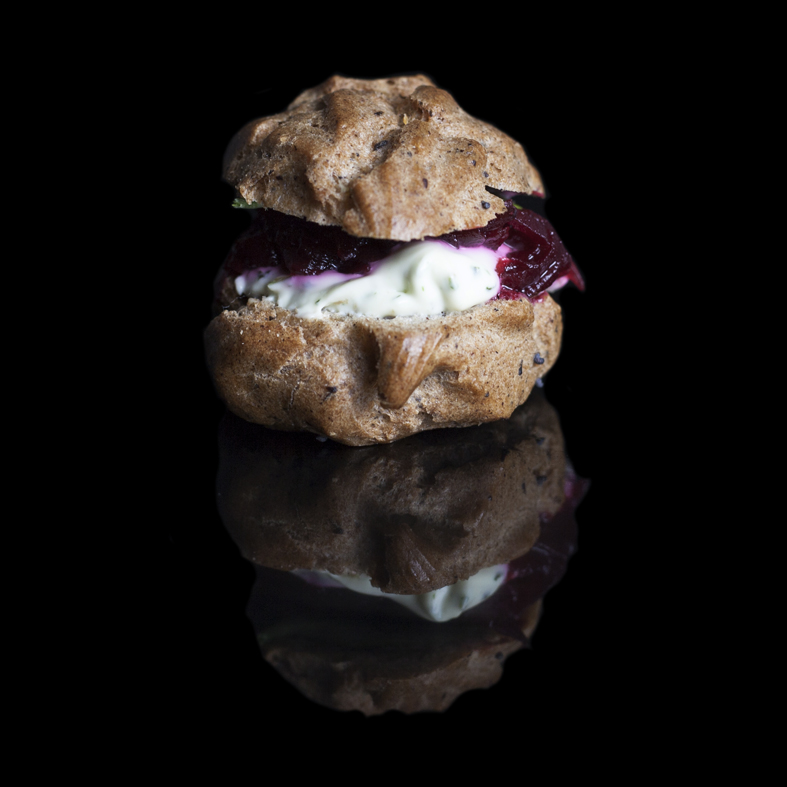 Copy of Copy of Goat Cheese & Beetroot Relish Profiteroles (GF-V)