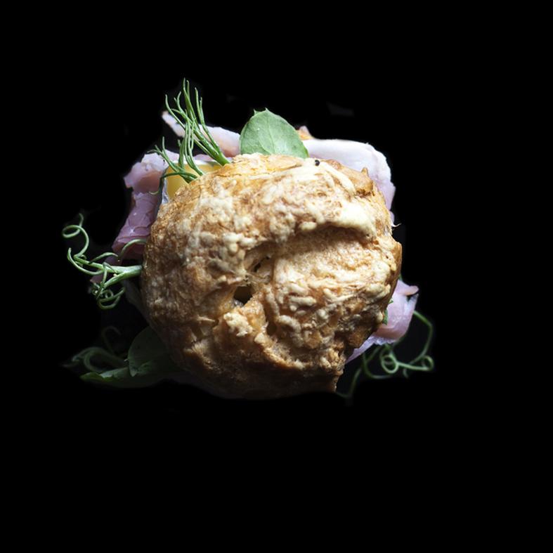 Ham & Brie Gougere (Choux Pastery Case)