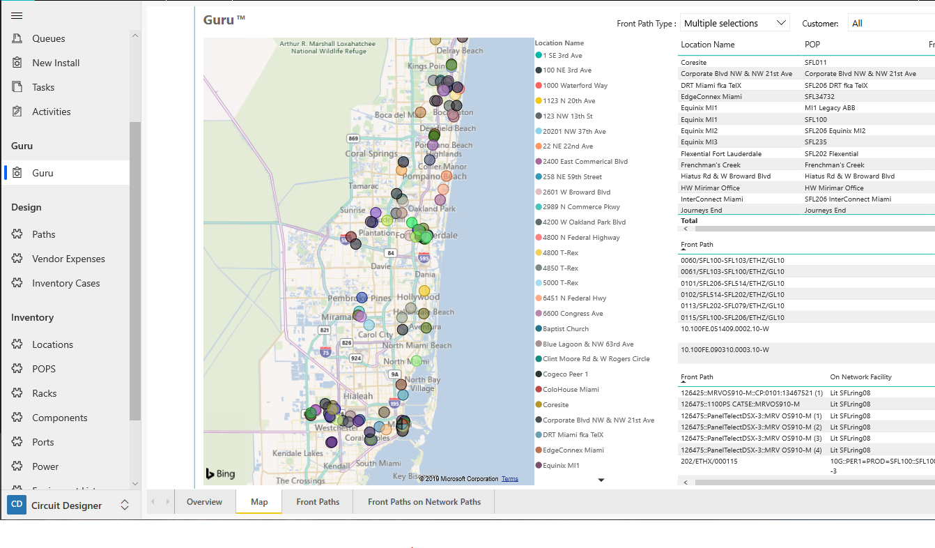 Guru Map View - Visualize, analyze, and scrutinize the network directly from the system where you build the network