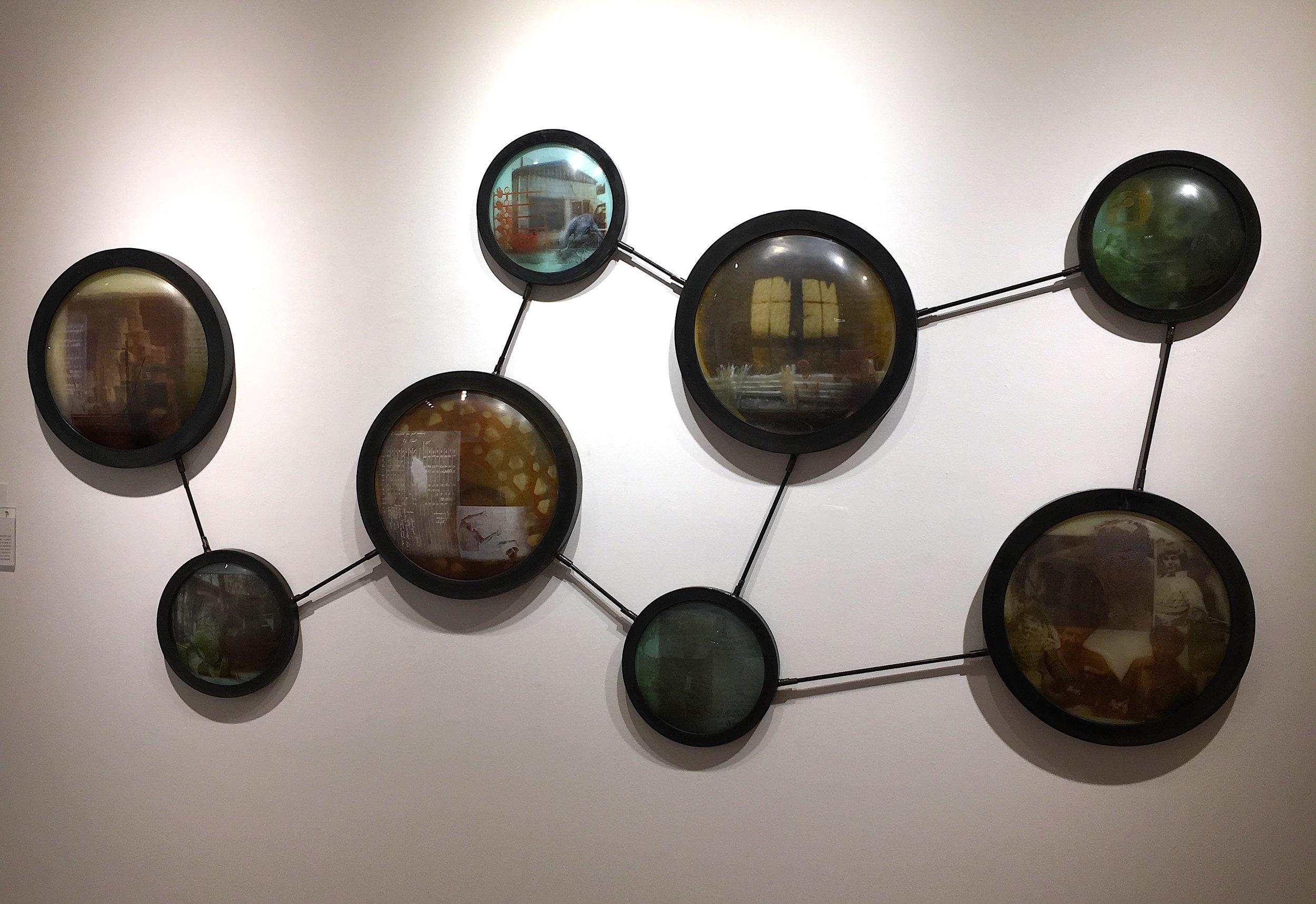 Hayden Wilson, The Molecule, 2017, blown glass with glass powder screen prints