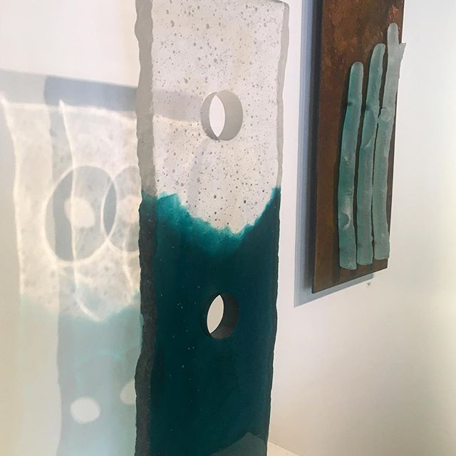 Ben Green makes beautiful cast-glass sculptures that throw lovely shadows. Stop by and check out his work, we're open until 6!