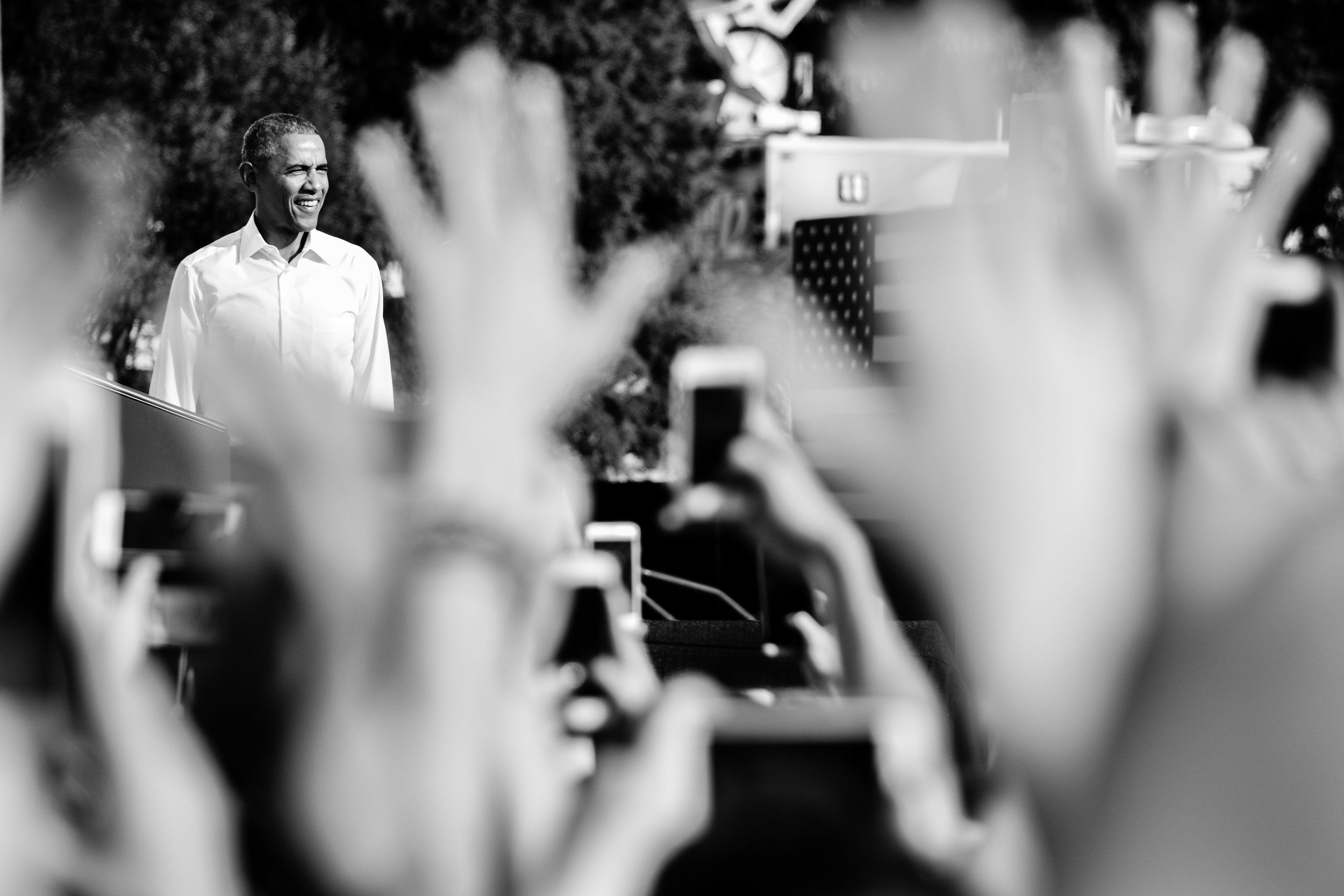 president obama speaks at a rally for hillary clinton at unc–chapel hill on november 2, 2016