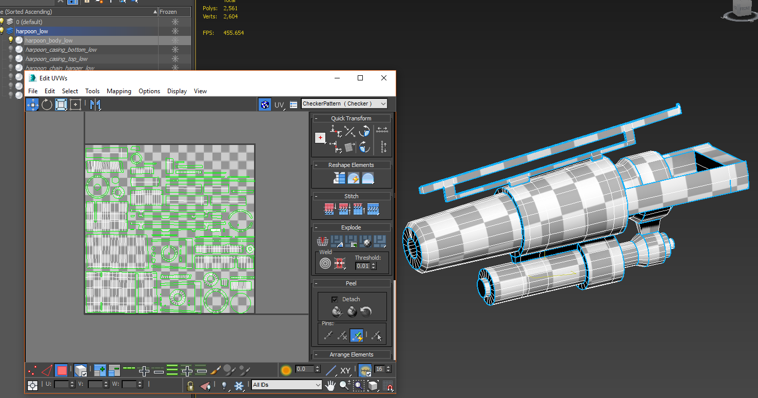 Harpoon  UV mapping and packing