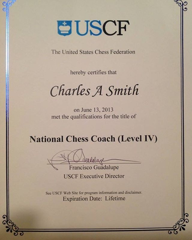 Looking forward to level V. #chesscoach #chessplayers #uscf #chesslessons #chesschampion #playchess #unitedstateschessfederation #chessplayer #learnchess #chess