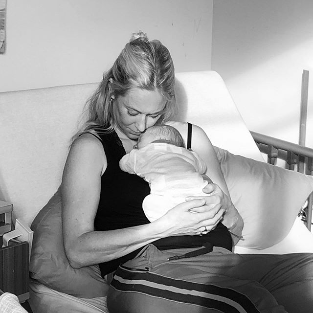 These moments... Just breathe, be still + present, as this is when the magic happens. 💫 photo of one day old cuddles with Ace. Only days old but already taught me so much