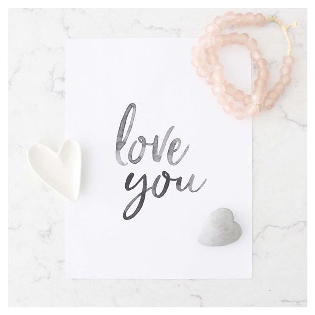 """It's almost Valentines Day! Be sure to pop over to @anoblehome new blog for a free printable of our """"love you"""" print 🖤"""