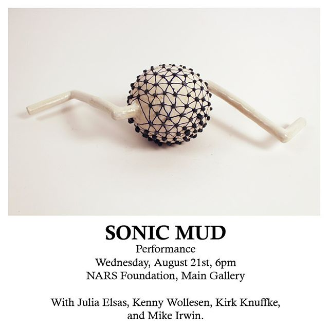 Save the date for the next @sonicmud performance! 🎶 • • Wednesday, August 21, 6pm at the @narsfoundation ! • • • #kennywollesen @kirk.knuffke  #mikeirwin and I are playing instruments from #sonicmud #ugavnights . Free and open to the public. 🤙✌️ • • The performance is a part of the @narsfoundation summer exhibition The Weight of the Temporary which opens this Friday!