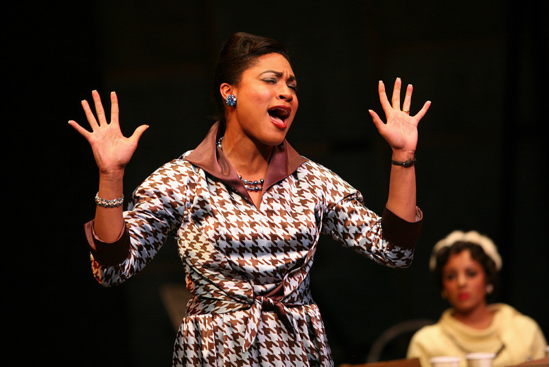 In 2012, Yunina won a League of Cincinnati Theatre award for BEST ACTRESS IN A PLAY for her role as Wiletta Mayer in Alice Childless's Trouble in Mind. -