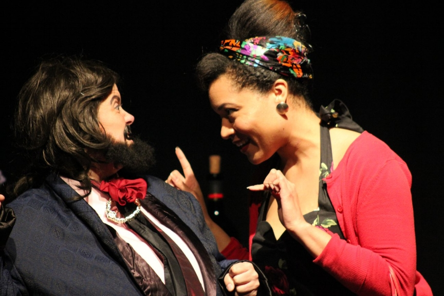 Yunina as Mistress Quickly in The Merry Wives of Windsor - Check out a review of Barbour-Payne's performance as Mistress Quickly in Boiling Point Players The Merry Wives of Windsor (Houston, TX)http://redpub.com/images_articles_2018/theater_themerrywives_welch.php