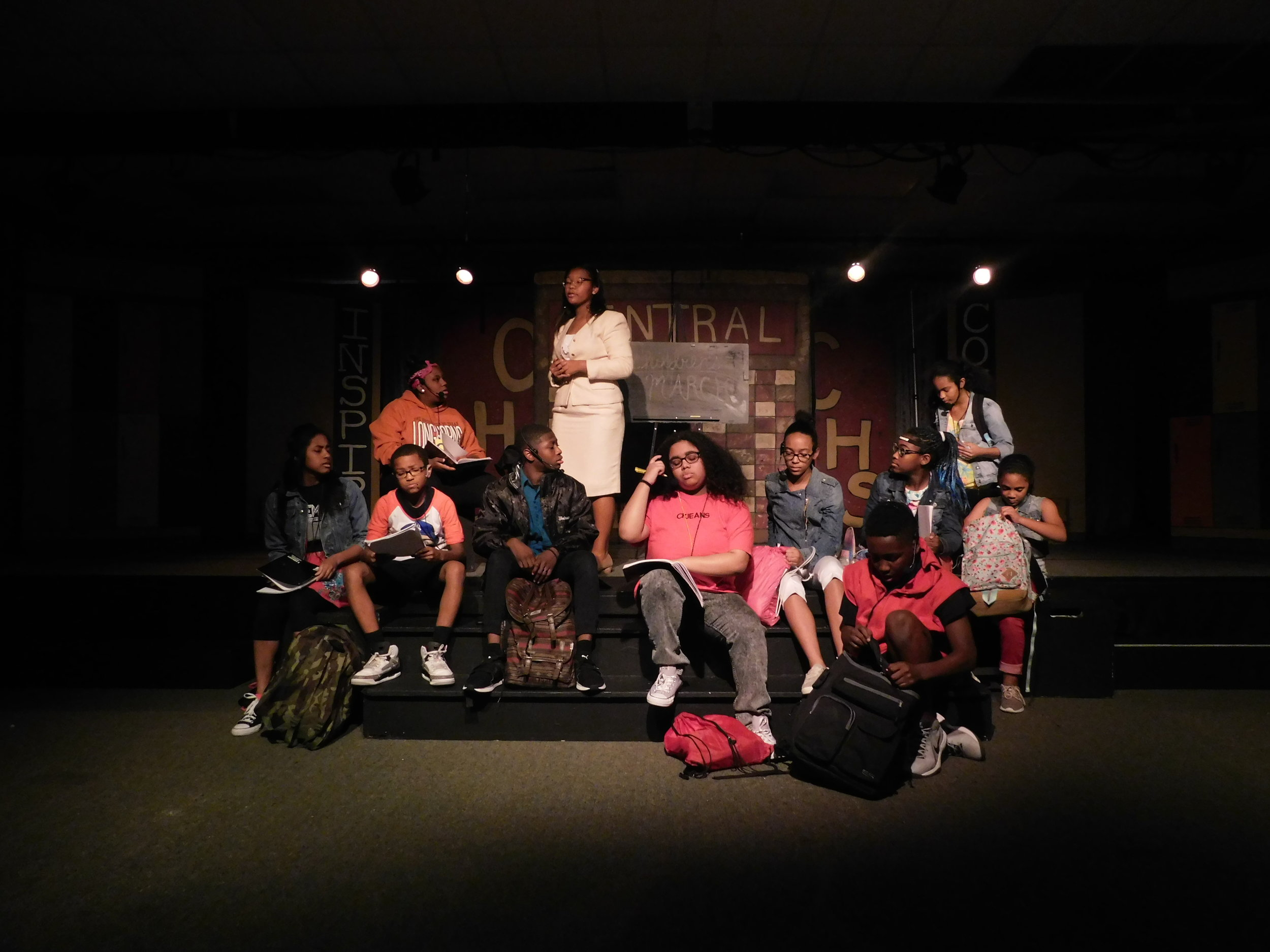 Never Again - Written and Directed by Yunina Barbour-PayneJune 29-30,2018The Ensemble Theatre. 3535 Main Street Houston, TX 77002Set: Jabari CollinsLight: Kris PhelpsSound: Adrian WashingtonPerformed by: Young Performers Program Artists