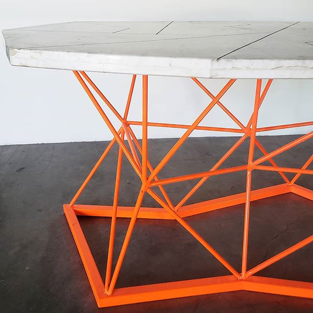 Theres a serious marble and geometric neon love affair going on.