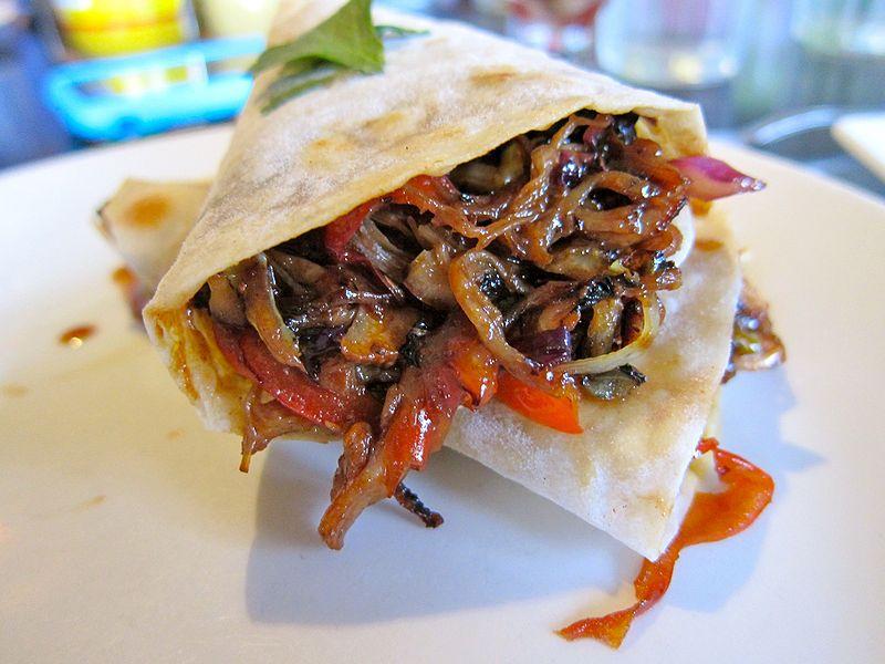 Hoss's Moo Shu Pork Burritos -