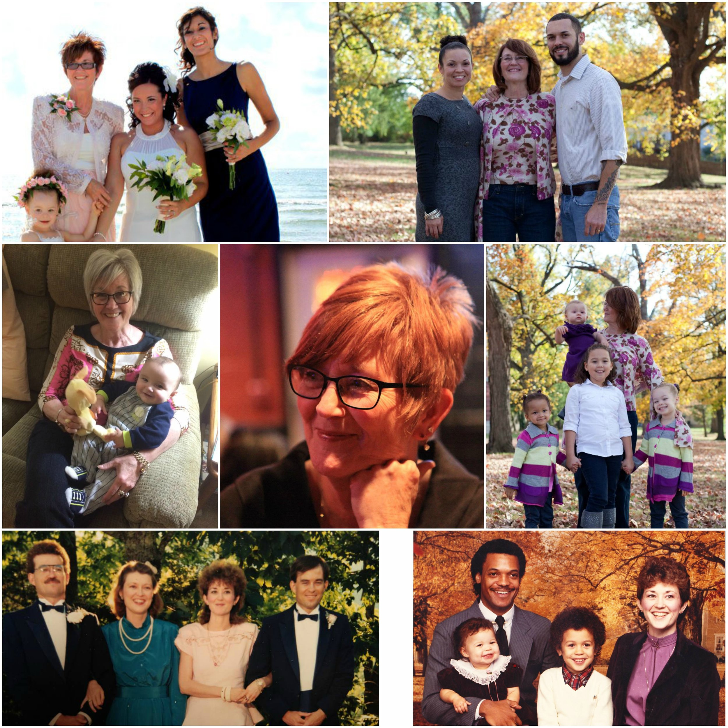 I found so many great pictures of Aunt Michelle's style through the years, I couldn't pick just one. I had to squeeze them all in with a collage!